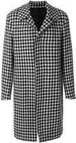 Lanvin grid pattern single-breasted coat
