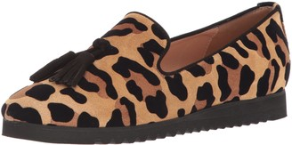 Andre Assous Women's Jillie Loafer Natural leopar 7.5 M US