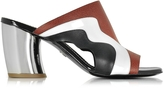 Proenza Schouler Color Block Leather Slide w/Mirror Heel