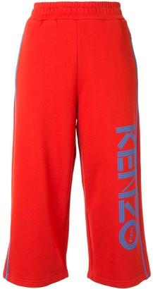 Kenzo Logo Cropped Track Pants