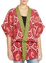 Scotch & Soda Pattern Block Belted Kimono Jacket