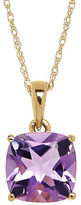 Lord & Taylor Amethyst and 14K Yellow Gold Pendant Necklace