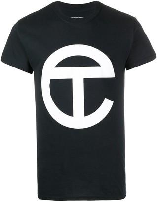 Telfar longline logo print T-shirt
