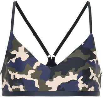 The Upside French Camo Zoe sports bra