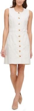 Tommy Hilfiger Awning Stretch Striped Sheath Dress