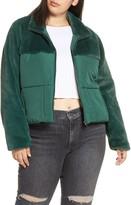 BP Mixed Media Puffer Coat