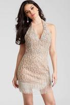 Jovani 53094 Embellished Halter Sheath Dress