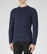 Reiss Star - Chunky Knit Jumper in Blue, Mens