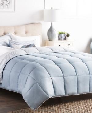 Brookside Striped Reversible Chambray Comforter Set, King Bedding