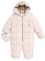 Burberry Infant Girl's 'Skylar' Quilted Down Snowsuit