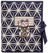 Olympia Le-Tan Manekineko Embroidered Note Book Clutch