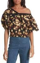 Rachel Comey Women's Delirium Silk & Stretch Cotton Off The Shoulder Top