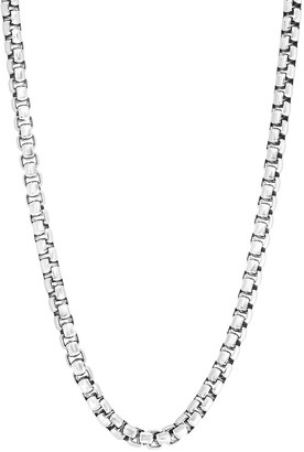 Effy Sterling Silver Round Box Chain Necklace