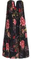 Nicholas Strapless Printed Silk-Crepe Dress
