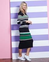 Fashion World Stripe Ribbed Knitted Dress