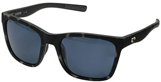 Costa Panga (Gray 580P/Matte Gray Tortoise Frame) Fashion Sunglasses