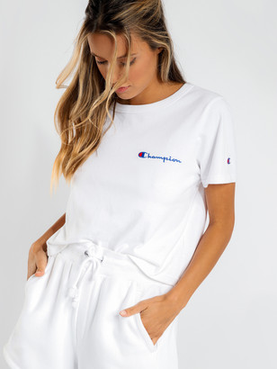 Champion Cropped T-Shirt in White
