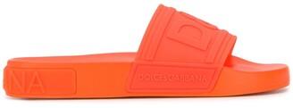 Dolce & Gabbana Logo Strap Slides