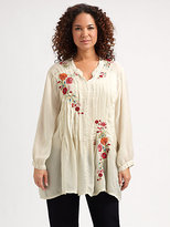 Johnny Was Johnny Was, Salon Z Floral-Embroidered Tunic