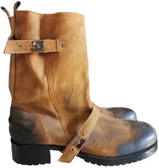 Neil Barrett Camel Suede Boots