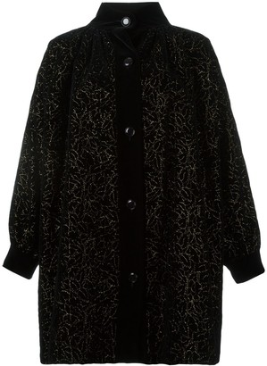 Yves Saint Laurent Pre Owned Floral Embroidered Coat