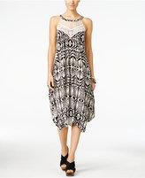 INC International Concepts Petite Printed Handkerchief-Hem Midi Dress, Only at Macy's