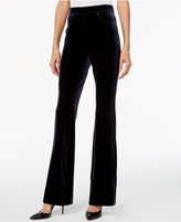 INC International Concepts Velvet Pull-On Flare-Leg Pants, Only at Macy's