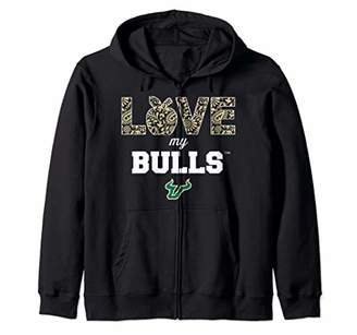 Tailgate South Florida Bulls Love My Team Tailgating Zip Hoodie