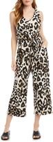 Karen Kane Leopard Print Sleeveless Jumpsuit