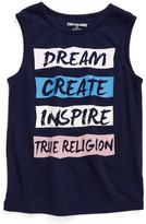 True Religion Dream, Create, Inspire Logo Muscle Tank (Big Girls)