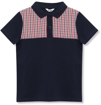 M&Co Houndstooth polo shirt (9mths-5yrs)