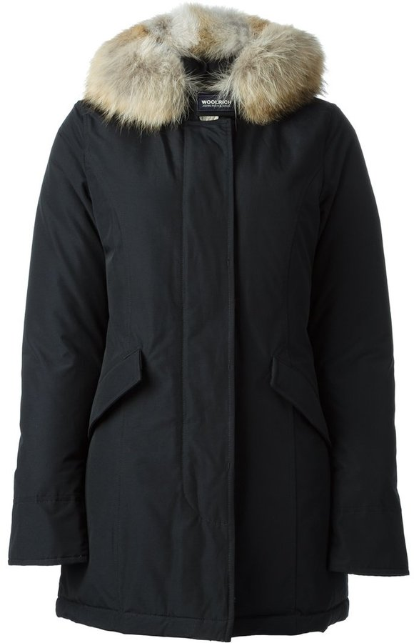 Woolrich trimmed hoodie padded parka