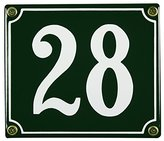 Enamel House Weatherproof Green 28 12 x 14 CM; Available immediately Enamel House Number