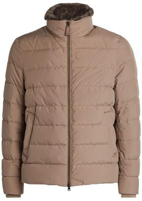 Herno Padded Beaver Fur-Trim Jacket