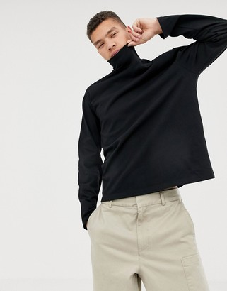 ASOS loose fit long sleeve t-shirt with turtle neck