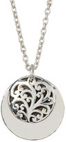 Lois Hill Sterling Silver Signature Handcrafted Round Pendant Necklace