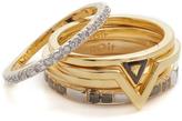 Noir Metal Cascade Stackable Ring Set