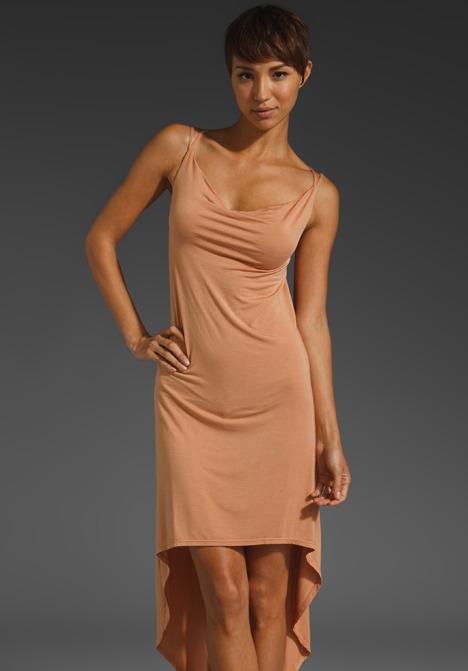 krisa Jersey Hi Lo Drape Dress