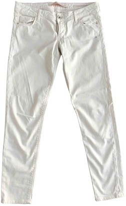 GUESS White Cotton - elasthane Jeans for Women