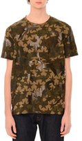 Valentino Camo & Star-Print Short-Sleeve T-Shirt, Green Multi