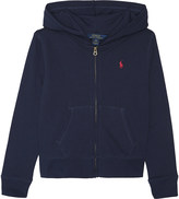 Ralph Lauren Logo zipped cotton hoody 7-14 years
