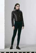 J Brand 815 Velvet Mid-Rise Super Skinny in Emerald