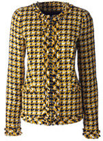 Lands' End Women's Textured Jacket-Drake Green Print