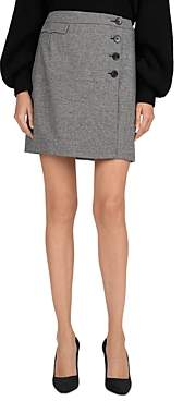 The Kooples Carreman Front-Button Skirt