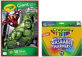 Crayola Marvel Avengers Giant Coloring Pad & Marker Set