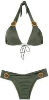 BRIGITTE ring-embellished bikini set