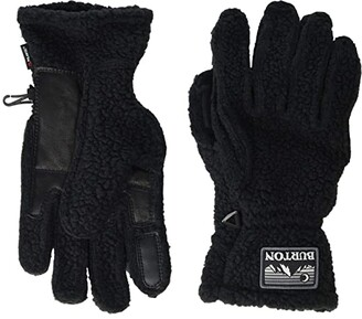 Burton Stovepipe Fleece Gloves (True Black Heather) Snowboard Gloves