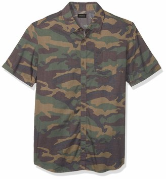Buffalo David Bitton Men's Short Sleeve Button Down camo Print Shirt