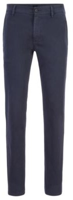 BOSS Slim-fit casual chinos in brushed stretch cotton