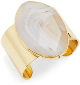 Diane von Furstenberg Cuff Bracelet with Sliced Agate